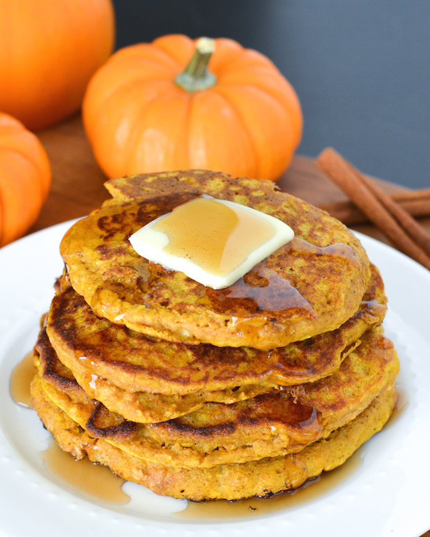These hearty pancakes are packed with pumpkin, oatmeal and whole wheat ...