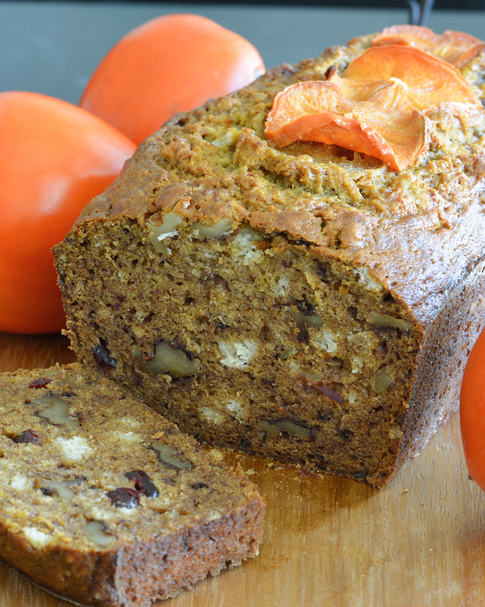 Persimmon Bread With Bourbon, Dates, And Walnuts Recipe — Dishmaps