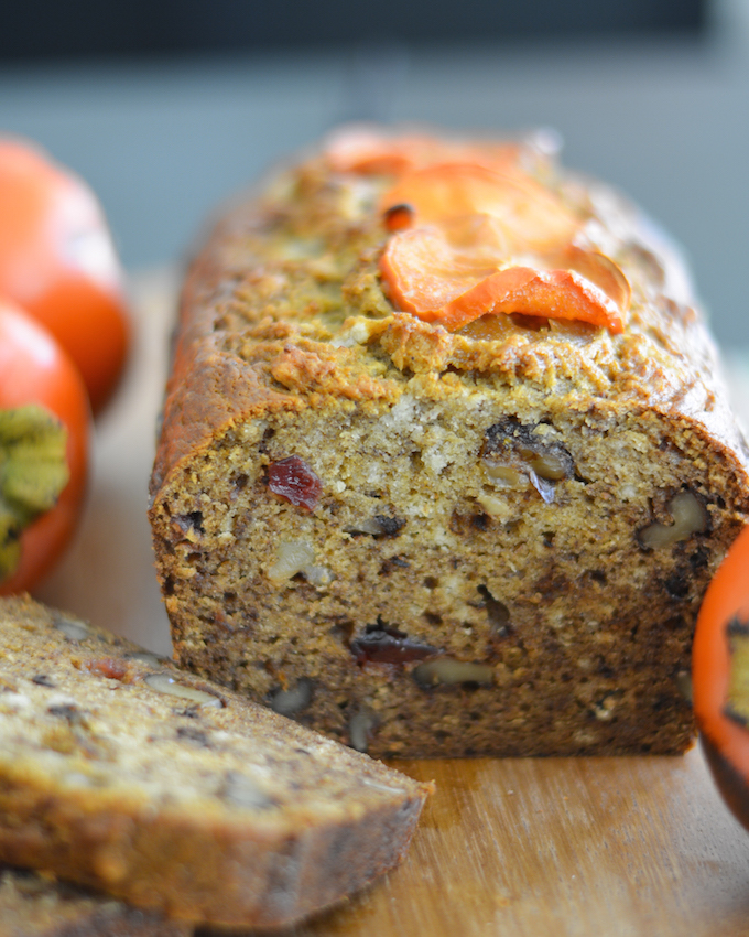 Bourbon Walnut Persimmon Bread | Flying on Jess Fuel