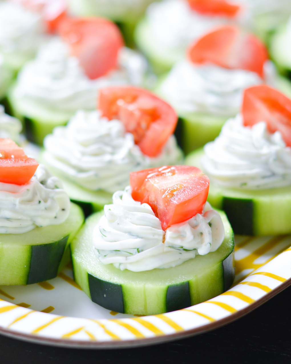 Healthy Christmas Appetizers Pinterest Dilly Cucumber Bites
