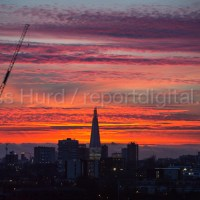 Winter sunset over the City of London.  © Jess Hurd/reportdigital.co.uk Tel: 01789-262151/07831-121483   info@reportdigital.co.uk   NUJ recommended terms & conditions apply. Moral rights asserted under Copyright Designs & Patents Act 1988. Credit is required. No part of this photo to be stored, reproduced, manipulated or transmitted by any means without permission.