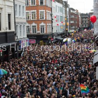 Thousands gather for a vigil on Old Compton Street following the mass shooting at Pulse LGBT nightclub in Orlando, Florida. Soho, London.  © Jess Hurd/reportdigital.co.uk