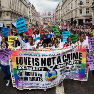 Proud Gay Ugandans, Pride in London Parade 2016  © Jess Hurd/reportdigital.co.uk