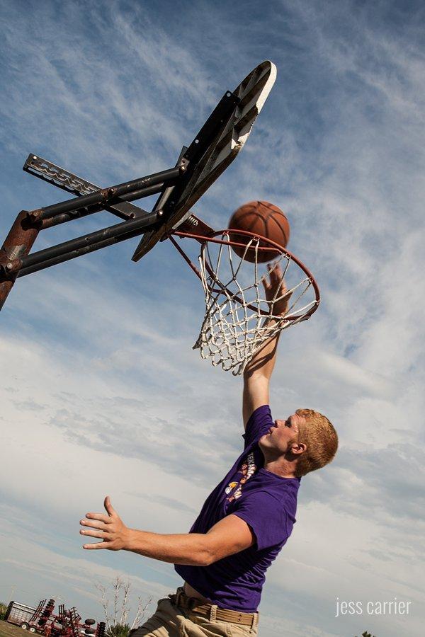 Senior Photo Basket Ball Dunk Shot