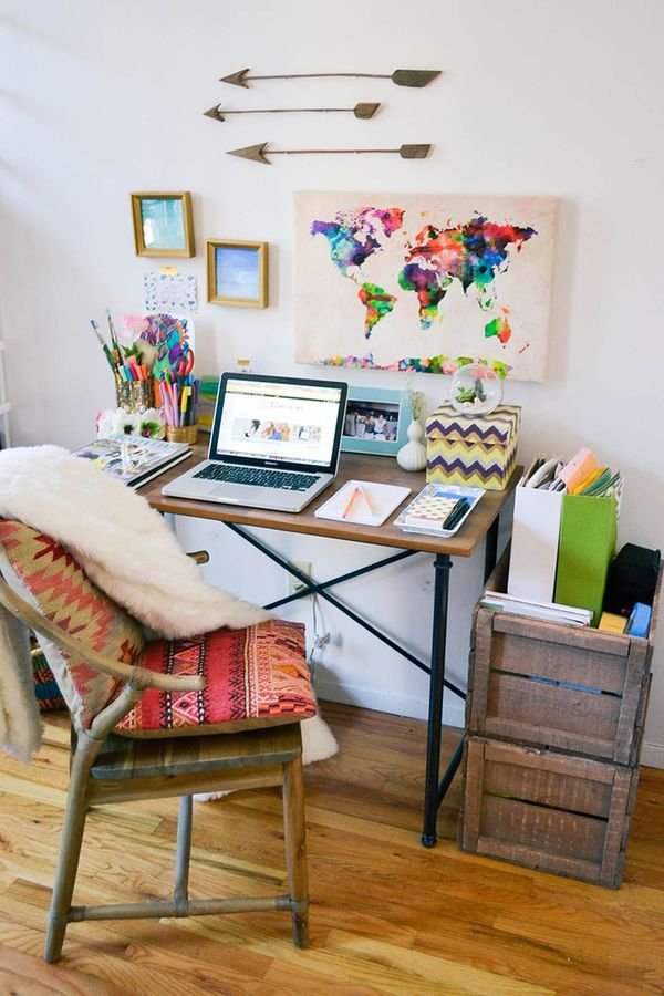 7 Creative Office Space Ideas - Vibrant Colors and Patterns