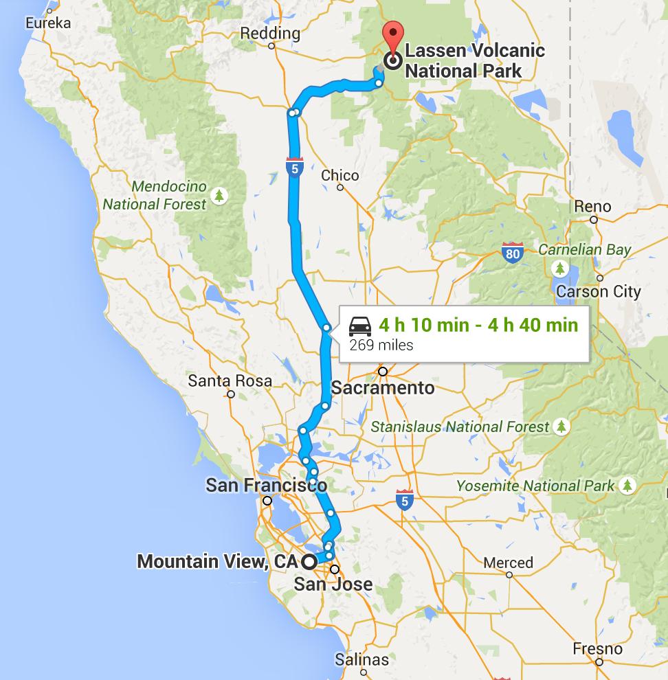 My Route To Lassen Volcanic National Park Feelingelephants
