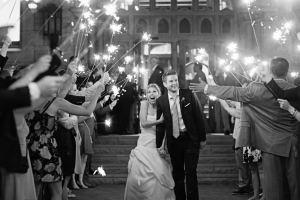 sparkler exit - Image by: Morgan Matters | http://jessicadum.com/portfolio/meredith-kevin/