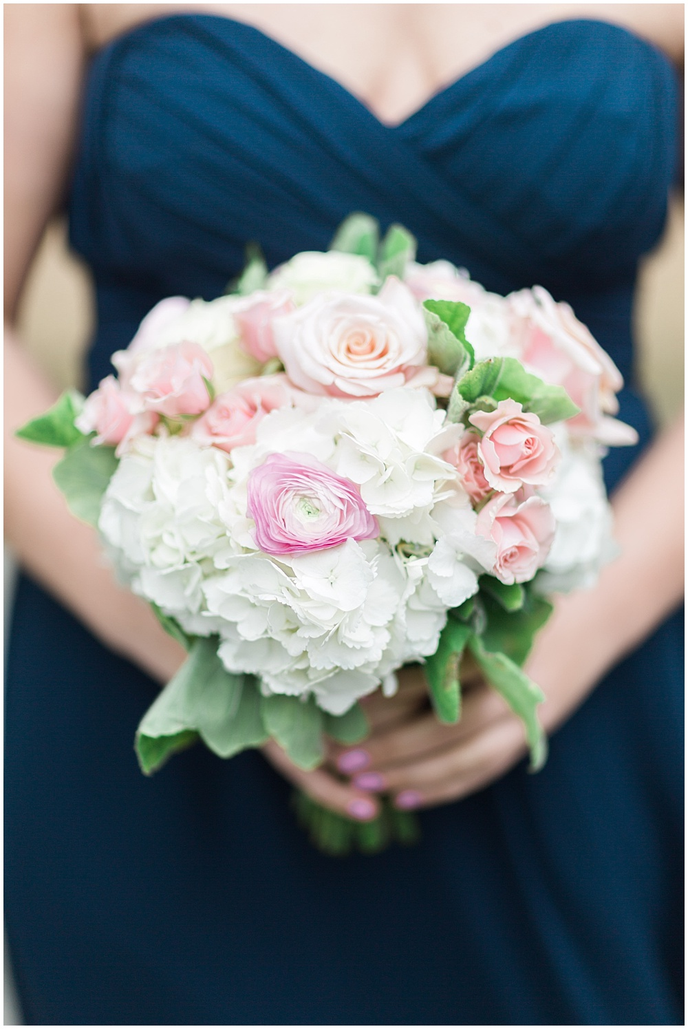 Soft Blush + White Wedding Bouquet | Downtown Indianapolis and CANAL 337 Wedding by Cory + Jackie Photography & Jessica Dum Wedding Coordination