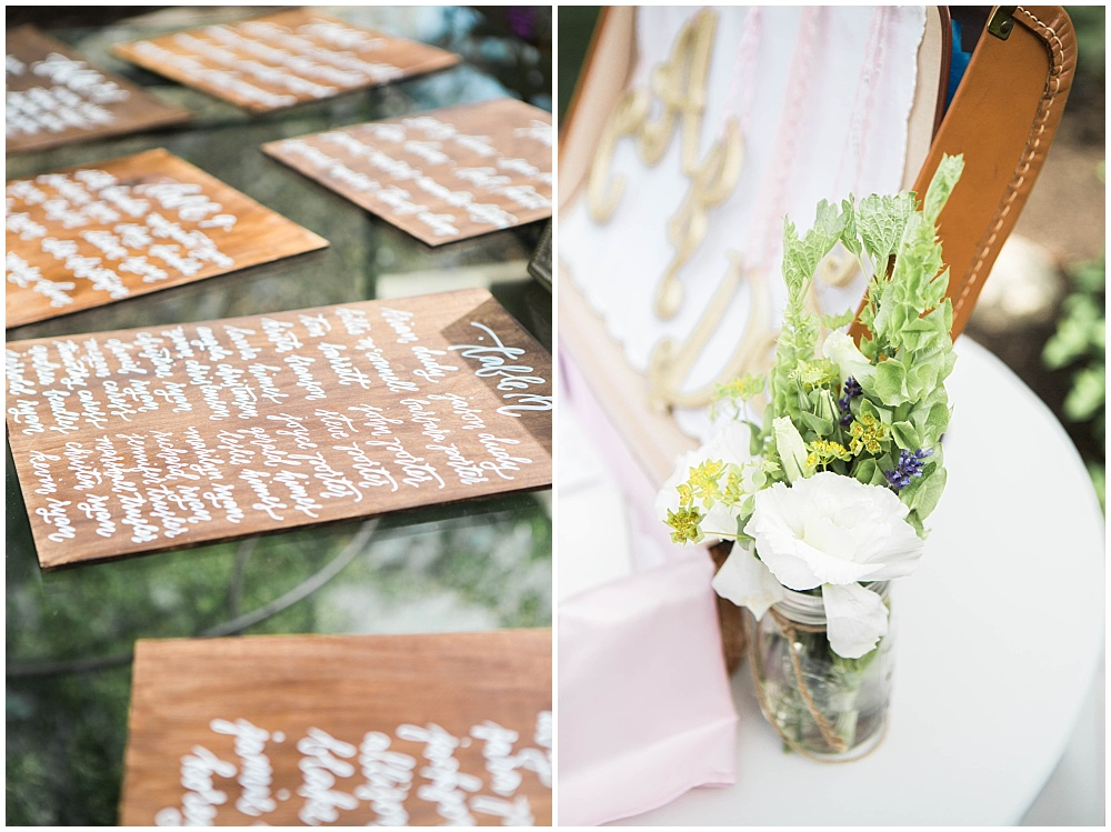 Hand Lettered Table Number Wood Slabs | Rustic Outdoor Estate Wedding by Conforti Photography & Jessica Dum Wedding Coordination