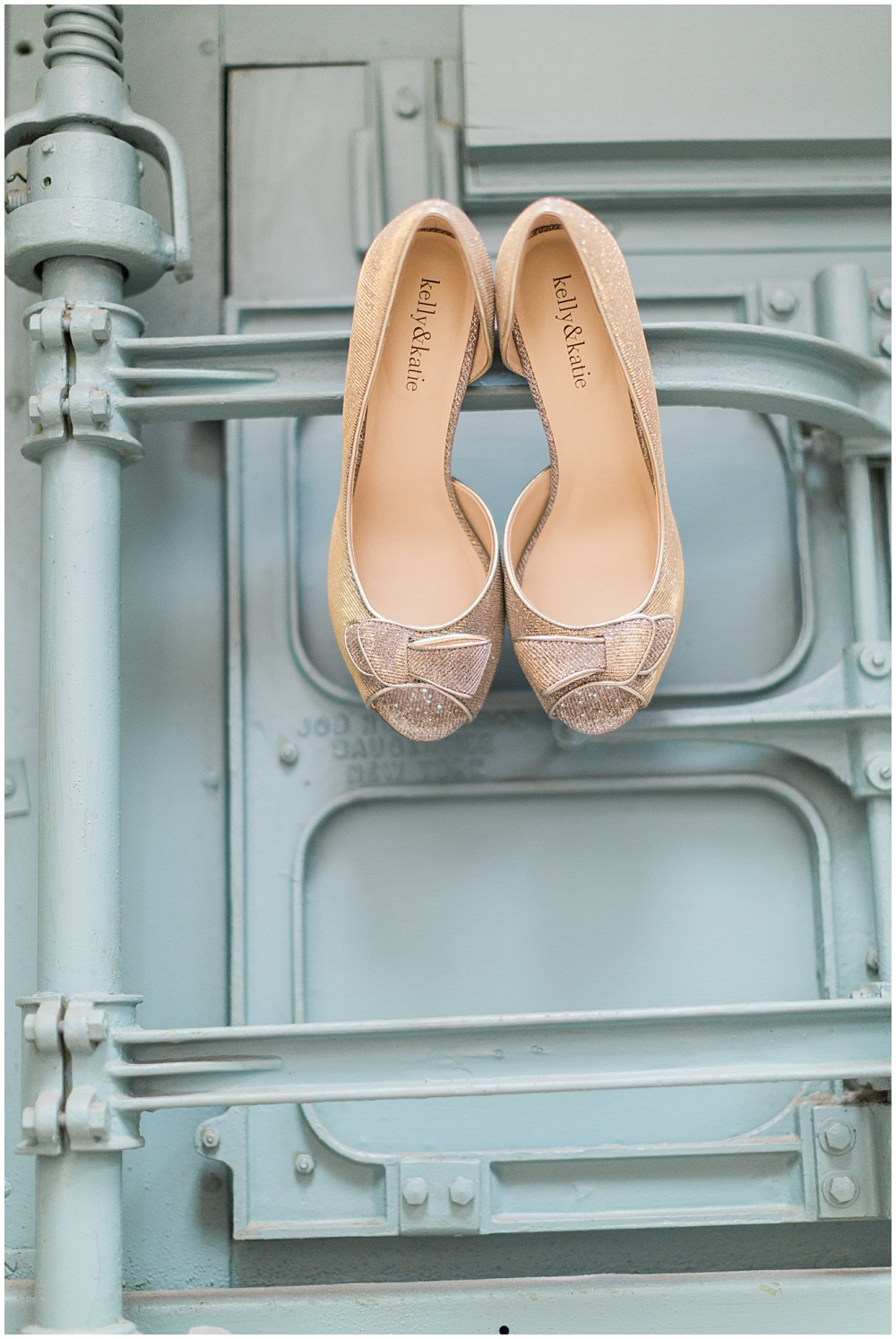 Gold Wedding Shoes | Downtown Indianapolis Wedding by Gabrielle Cheikh Photography & Jessica Dum Wedding Coordination