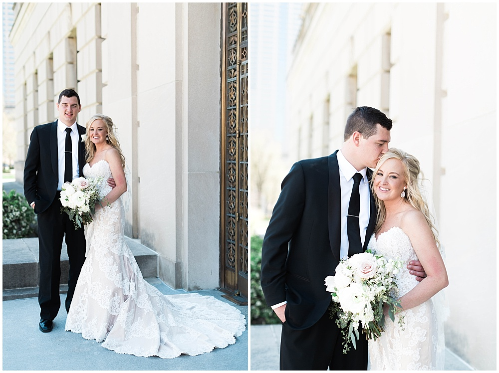 Bride and Groom outdoor portraits | Downtown Indianapolis Wedding by Gabrielle Cheikh Photography & Jessica Dum Wedding Coordination