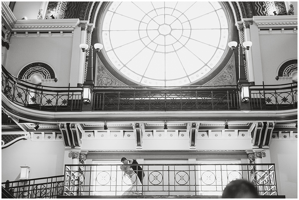 Bride and Groom Portraits | Downtown Indianapolis Wedding by Gabrielle Cheikh Photography & Jessica Dum Wedding Coordination