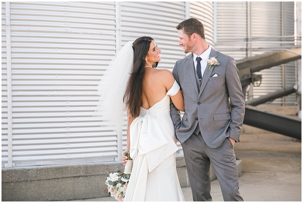Bride and groom outdoor portraits | Family Farm wedding by SB Childs Photography & Jessica Dum Wedding Coordination