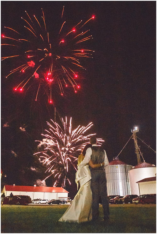 Wedding fireworks | Family Farm wedding by SB Childs Photography & Jessica Dum Wedding Coordination