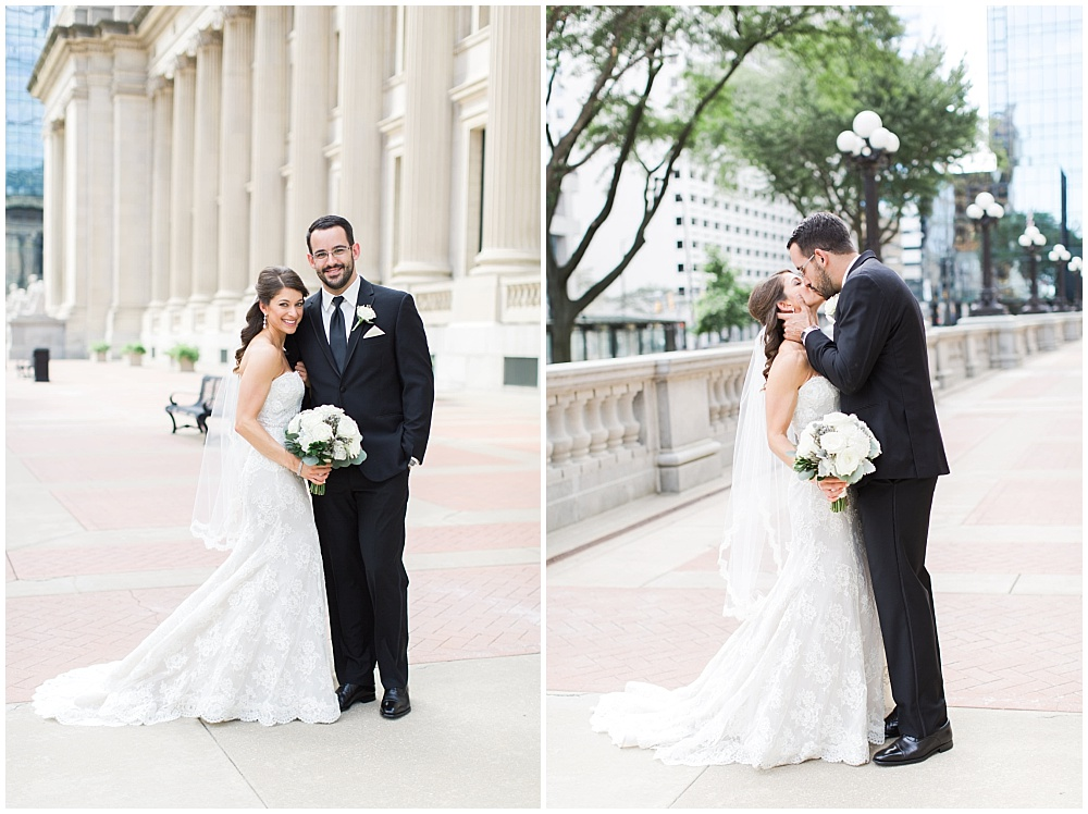 Bride and Groom downtown portraits | D'Amore Wedding by Ivan & Louise Images & Jessica Dum Wedding Coordination