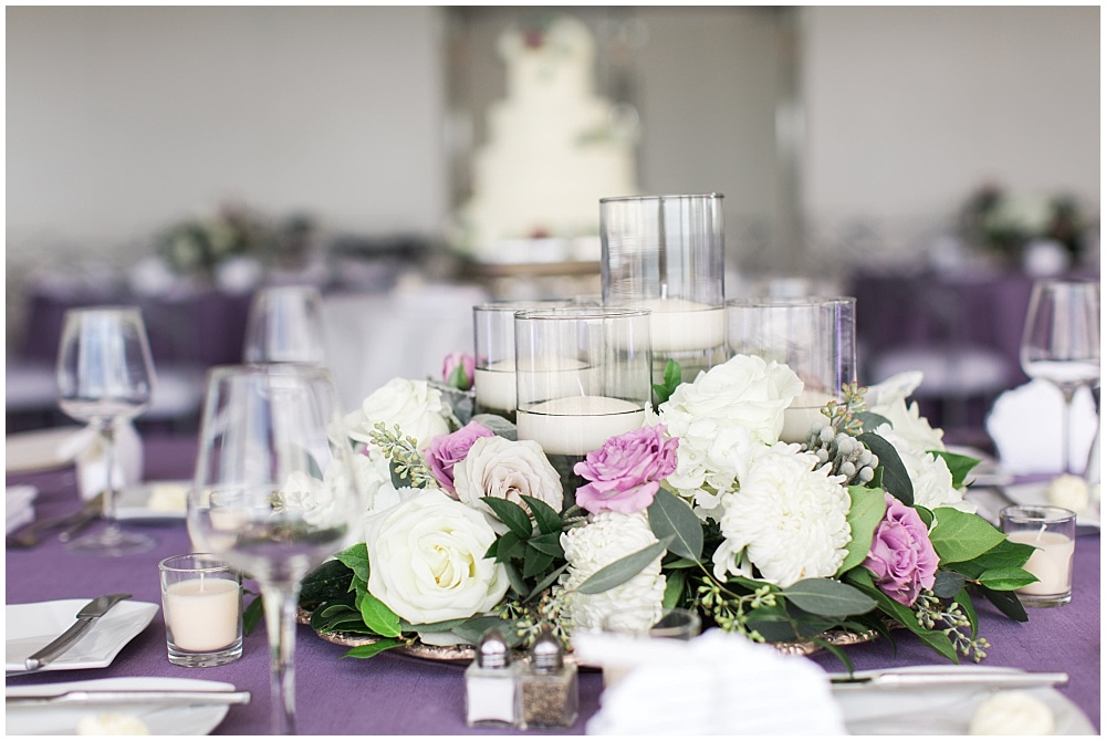 Floral and candle centerpieces | D'Amore Wedding by Ivan & Louise Images & Jessica Dum Wedding Coordination