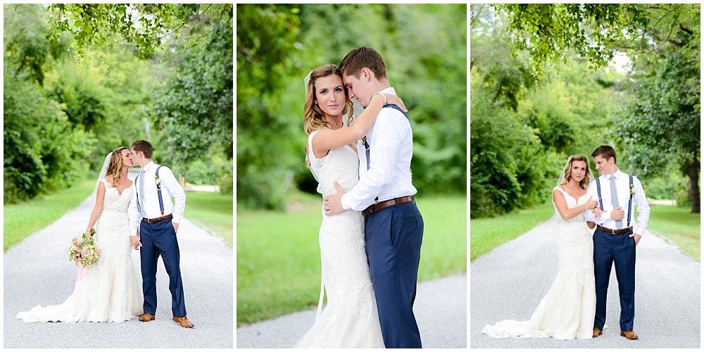 Bride and Groom bright outdoor summer portraits | Mustard Seed Gardens Wedding by Sara Ackermann Photography & Jessica Dum Wedding Coordination