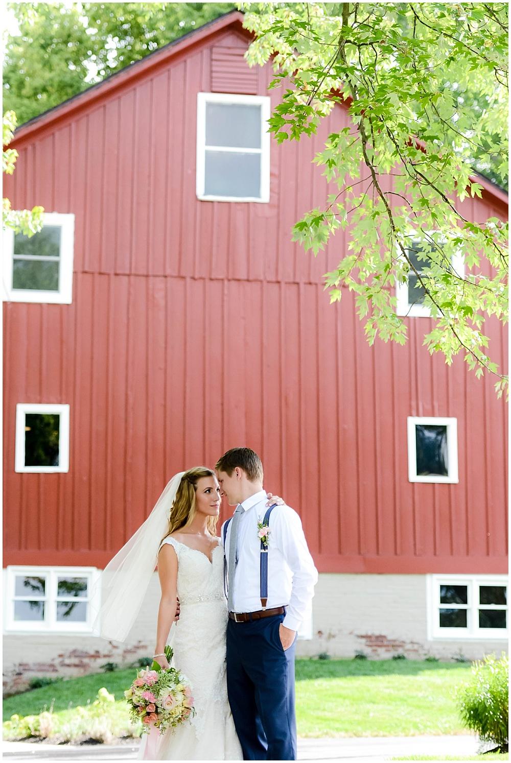 Bride and Groom barn portraits | Mustard Seed Gardens Wedding by Sara Ackermann Photography & Jessica Dum Wedding Coordination