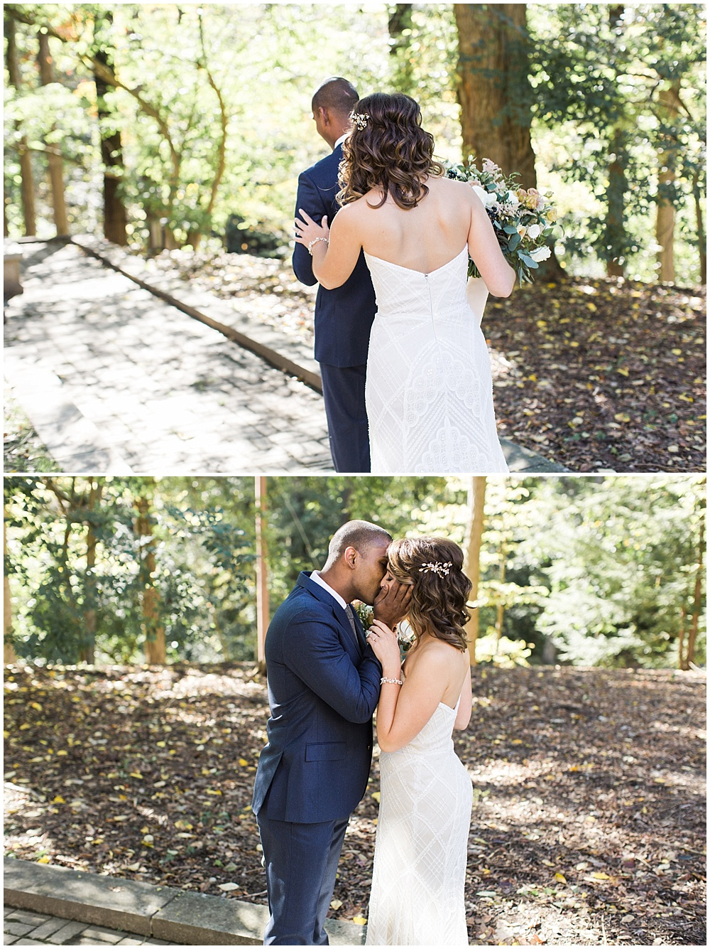 First look |Navy and Gold Wedding at Laurel Hall with Ivan & Louise Photography + Jessica Dum Wedding Coordination