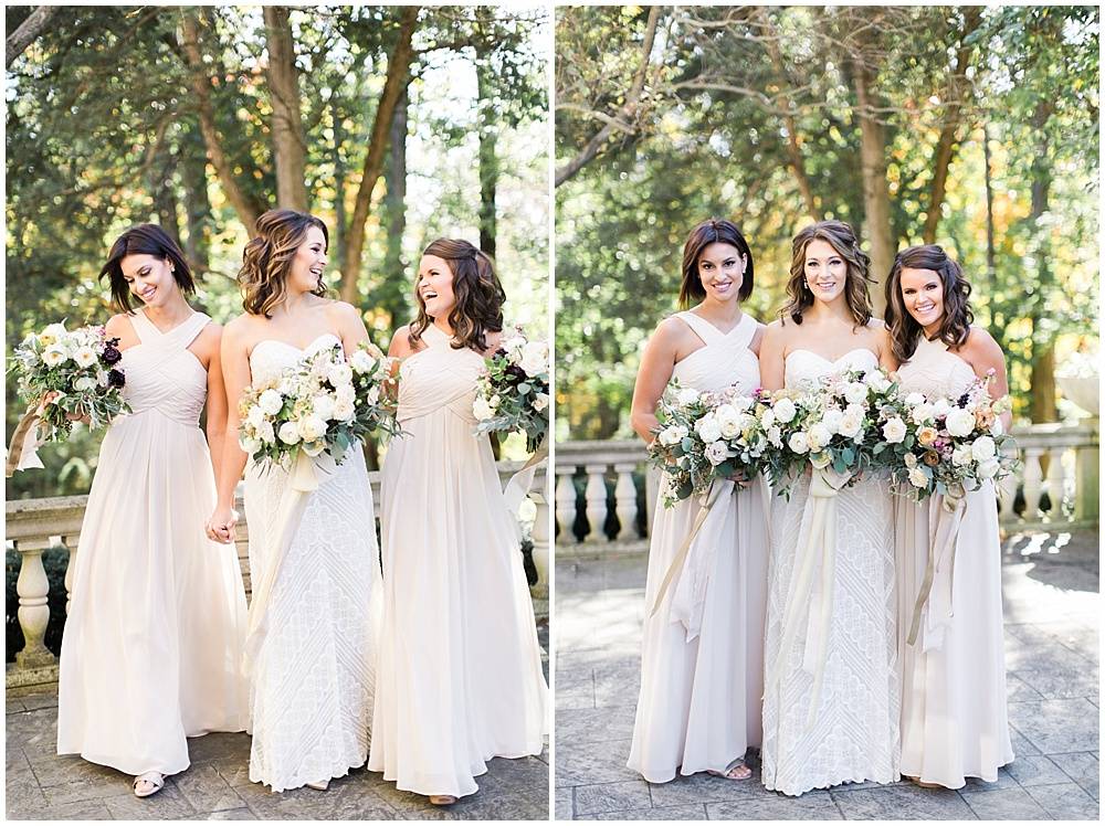 Ivory bridesmaid dresses | Navy and Gold Wedding at Laurel Hall with Ivan & Louise Photography + Jessica Dum Wedding Coordination