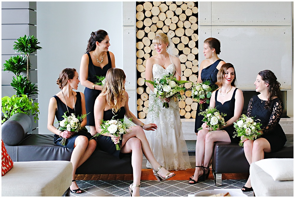 modern bridal party, the alexander hotel wedding, Morgan + Julian