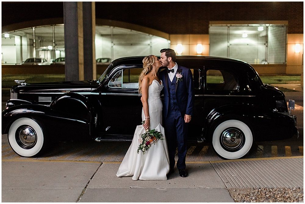 wedding classic car exit | Canal 337 Downtown Wedding by Jenny Haas Photography & Jessica Dum Wedding Coordination