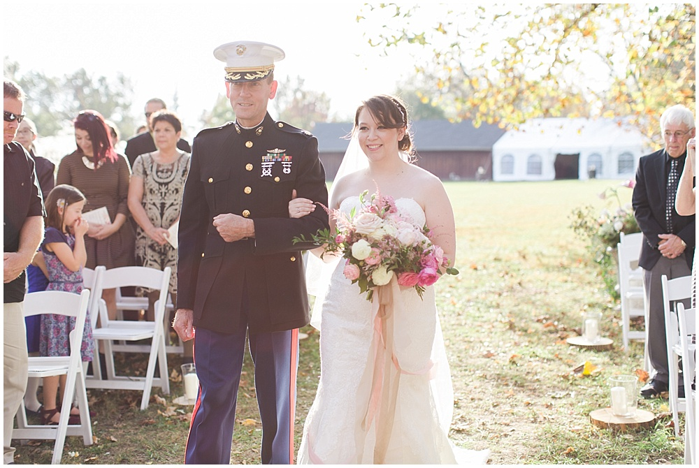 military dad, barn in zionsville wedding, ellie + tyler, ivan and louise images, jessica dum wedding coordination