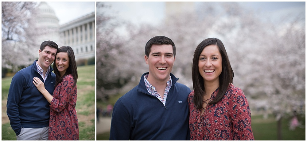 Washington, DC Engagement Session with cherry blossoms | Molly Connor Photography