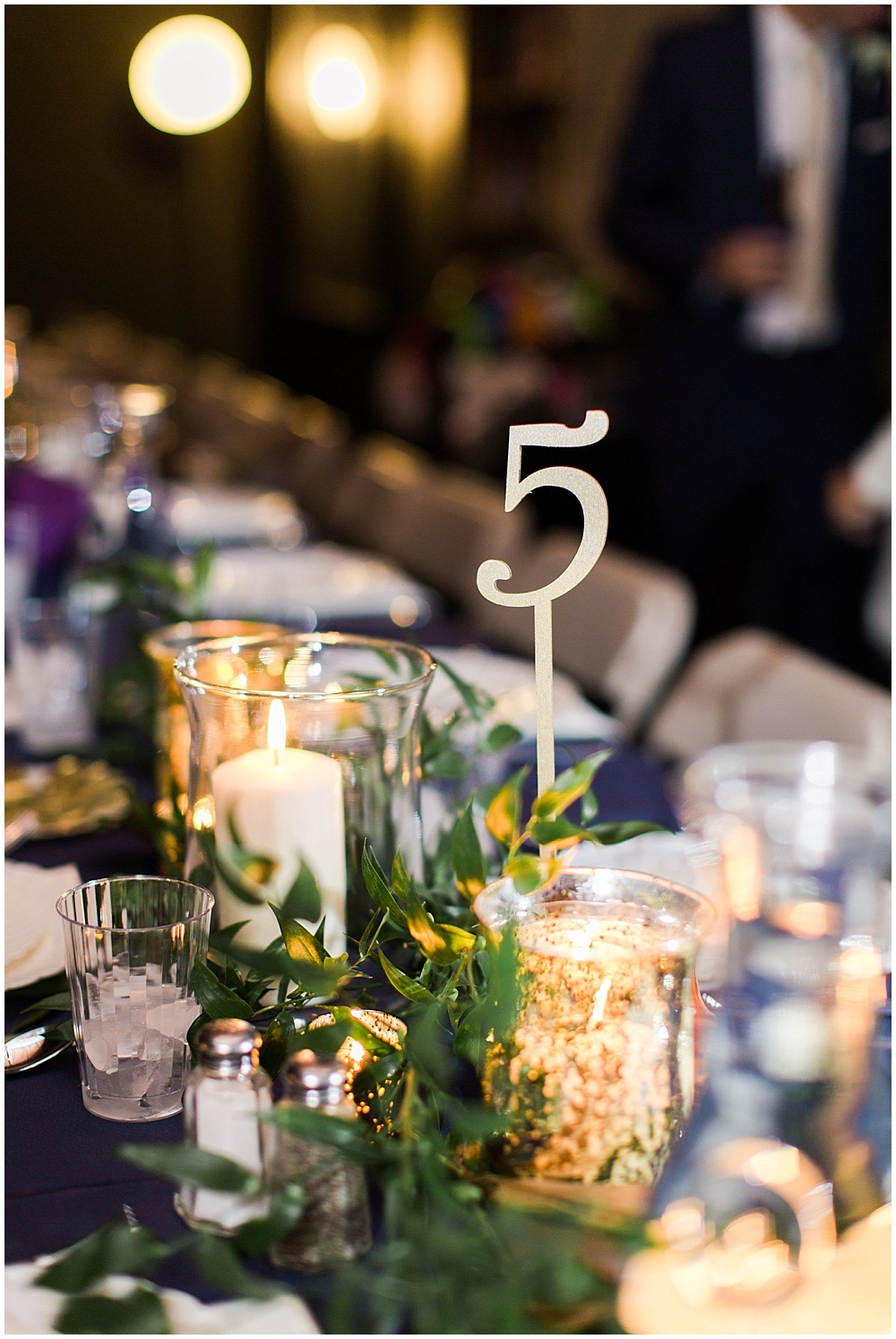 gold and green centerpieces | Ivan & Louise Images and Jessica Dum Wedding Coordination