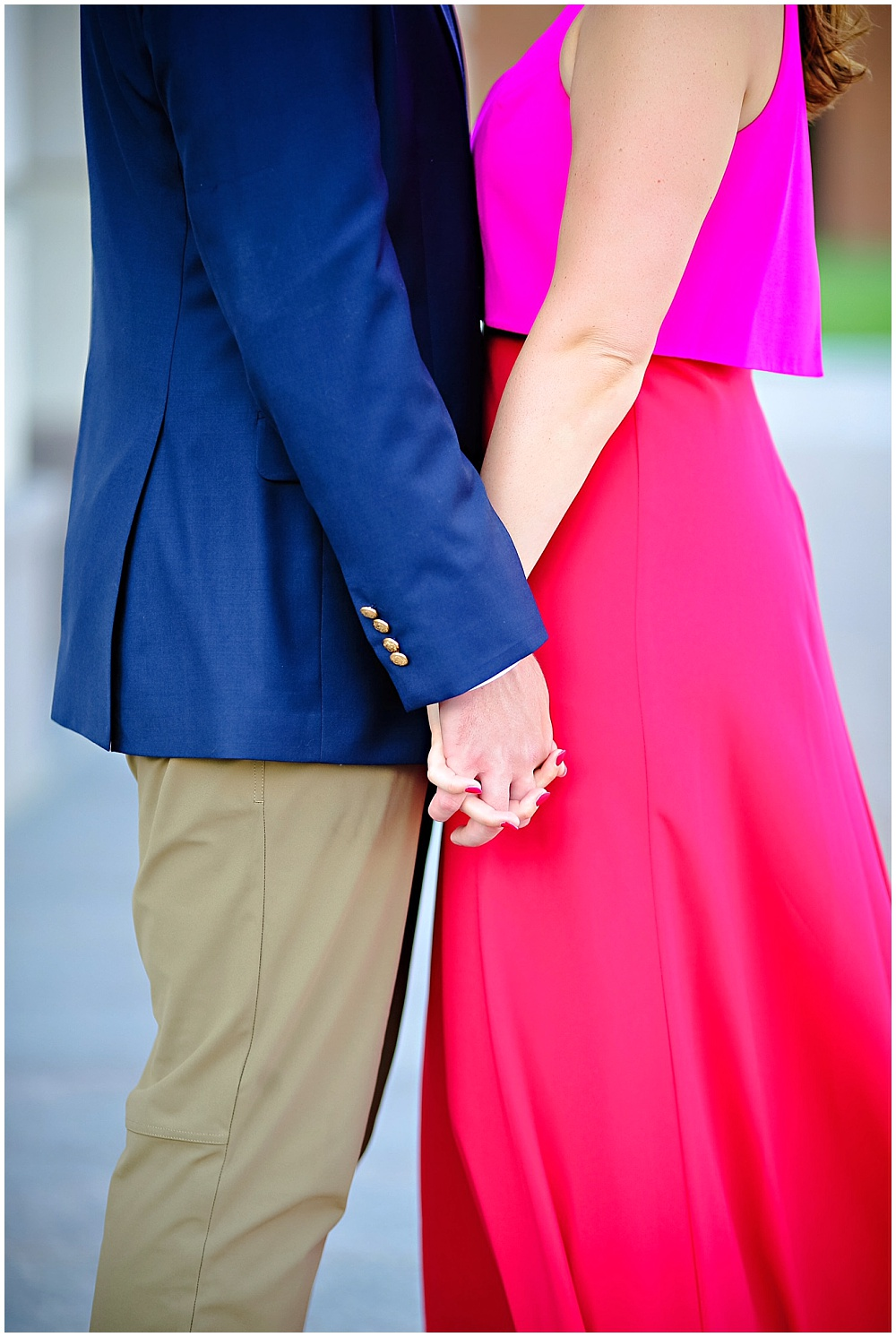 Pink dress engagement session | Jessica Strickland Photography