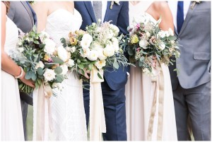Blush and white wedding bouquets   Laurel Hall wedding with Ivan & Louise Images + Jessica Dum Wedding Coordination