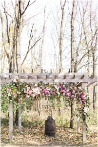 Rustic outdoor ceremony floral arch | Ivan & Louise Images and Jessica Dum Wedding Coordination