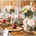 Rustic farmhouse tablescape with apple placecards | Ivan & Louise Images and Jessica Dum Wedding Coordination