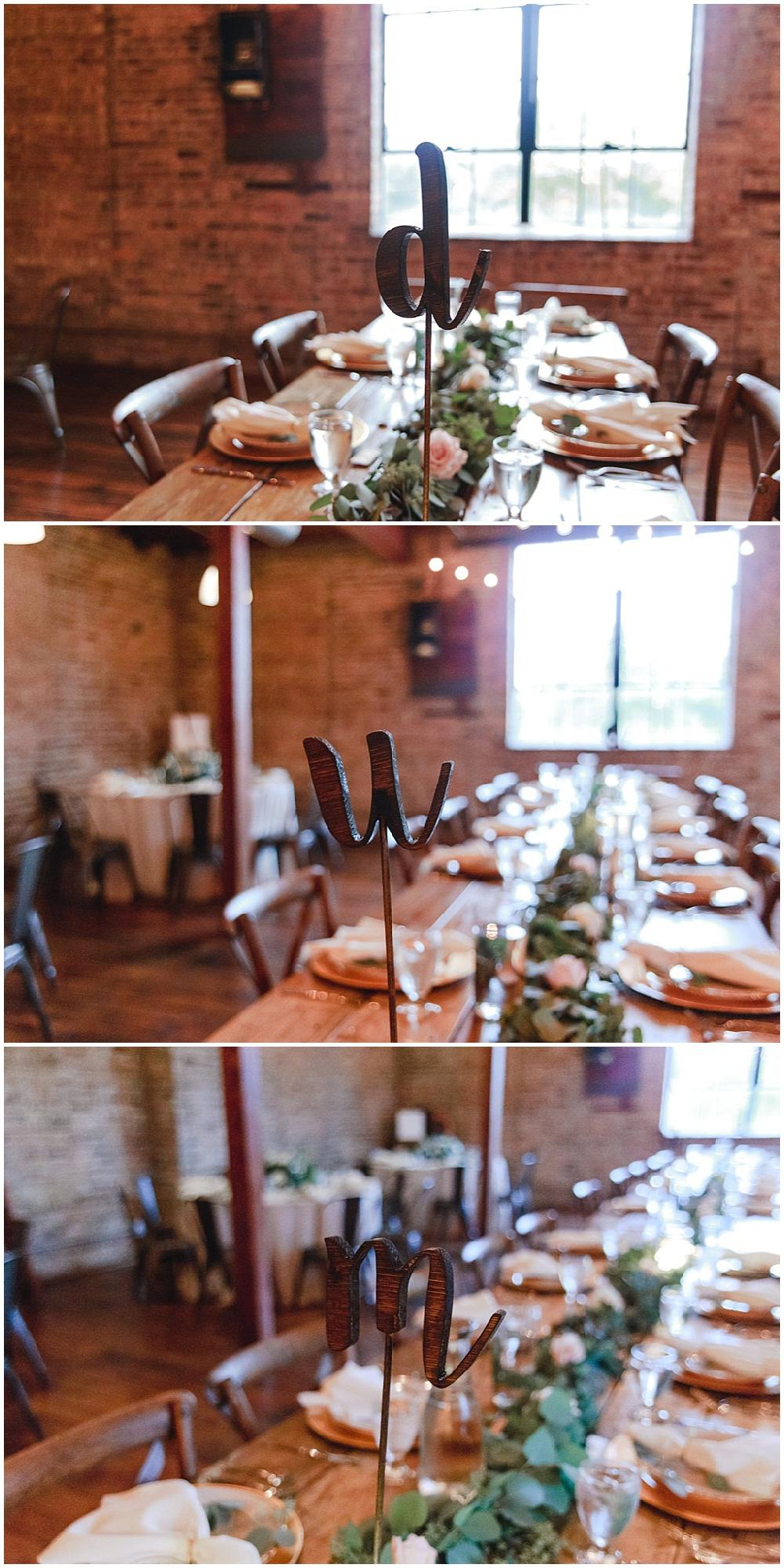 wooden table numbers | Chicago urban rustic wedding| Sandra Armenteros Photography | Jessica Dum Wedding Coordination