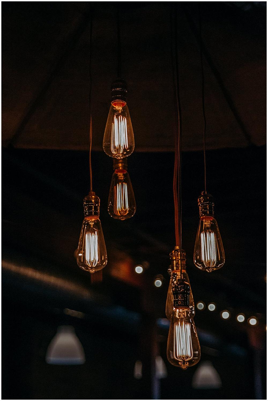 cafe lights reception | Chicago urban rustic wedding| Sandra Armenteros Photography | Jessica Dum Wedding Coordination