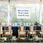 Hanging banner, navy and pink southern wedding | Ivan & Louise Images and Jessica Dum Wedding Coordination