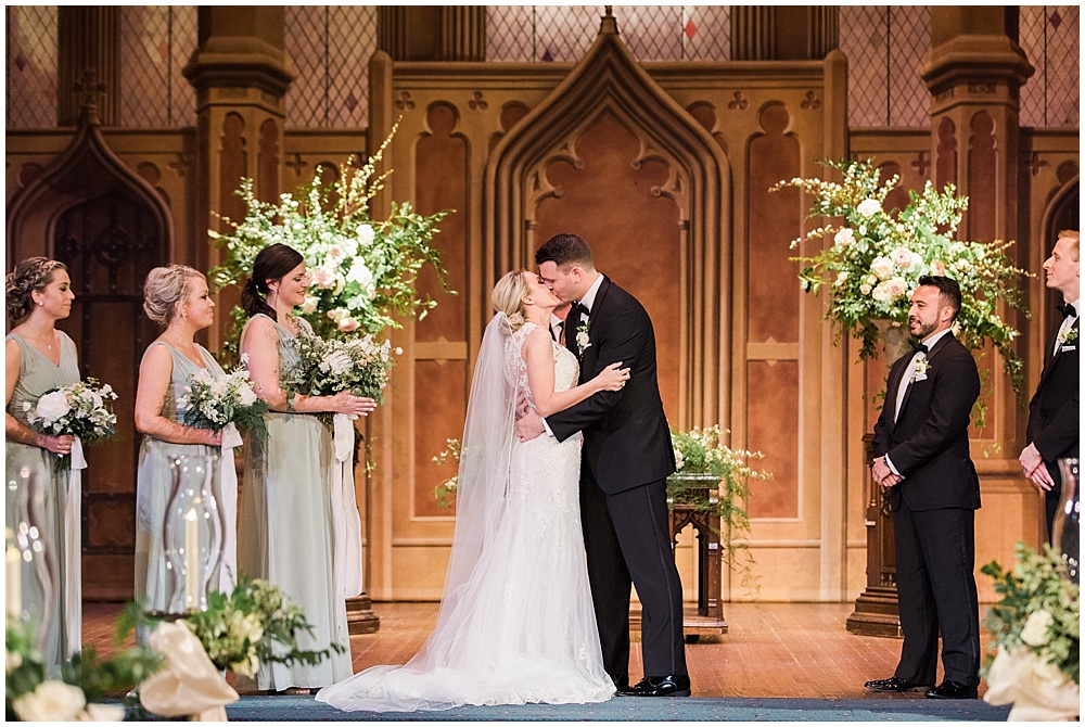 cathedral ceremony | floral and greenery wedding| Ivan & Louise Images and Jessica Dum Wedding Coordination