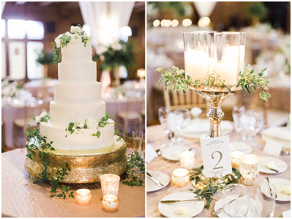gold, white, and green cake | floral and greenery wedding| Ivan & Louise Images and Jessica Dum Wedding Coordination