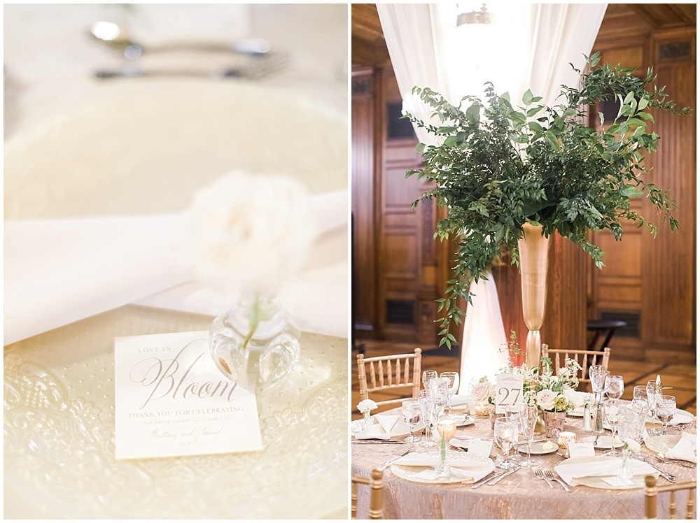 green and gold centerpiece | floral and greenery wedding| Ivan & Louise Images and Jessica Dum Wedding Coordination