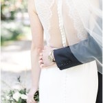 back of lace wedding dress; Spring floral + gold wedding | Ivan & Louise Images | Jessica Dum Wedding Coordination
