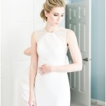 bride getting ready; lace BHLDN wedding dress; Spring floral + gold wedding | Ivan & Louise Images | Jessica Dum Wedding Coordination