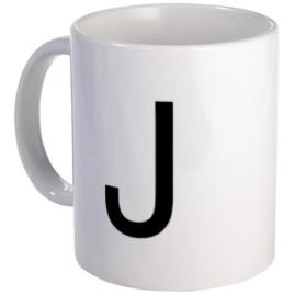 Geek Girl Gifts - Letter J Mug