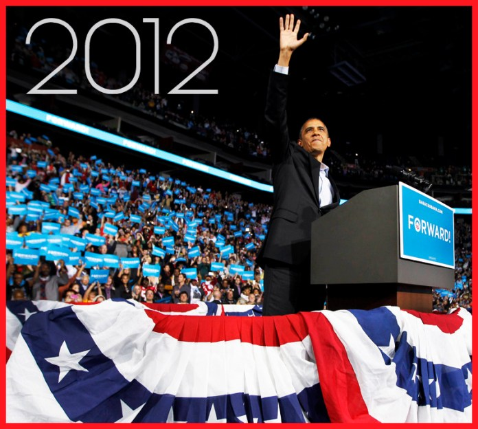 President Barack Obama 2012 Re-elected
