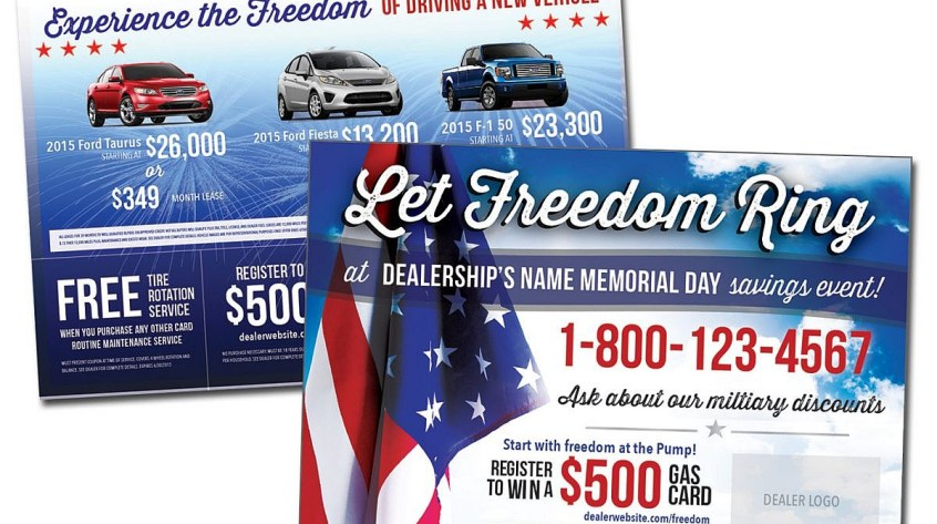 Car Dealership Advertisement Postcard Design