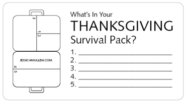 What's in your Thanksgiving Survival Pack?