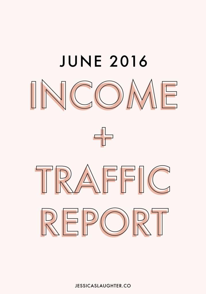 June 2016 Income + Traffic Report