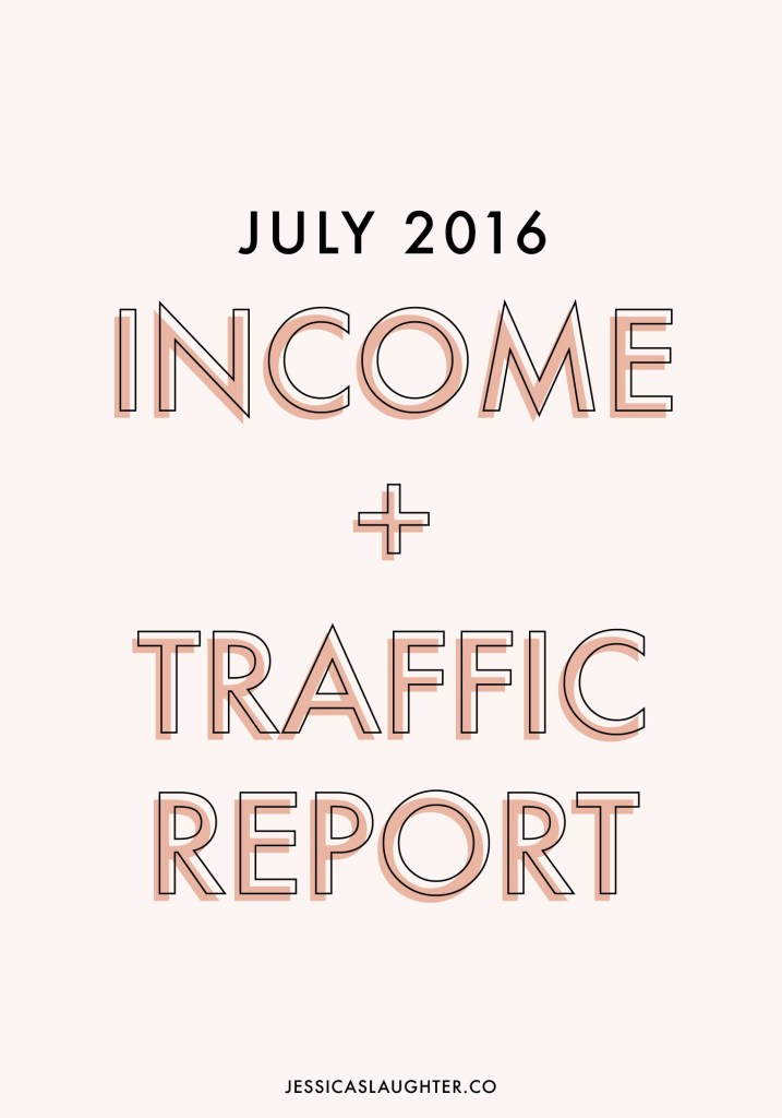 July 2016 Income + Traffic Report