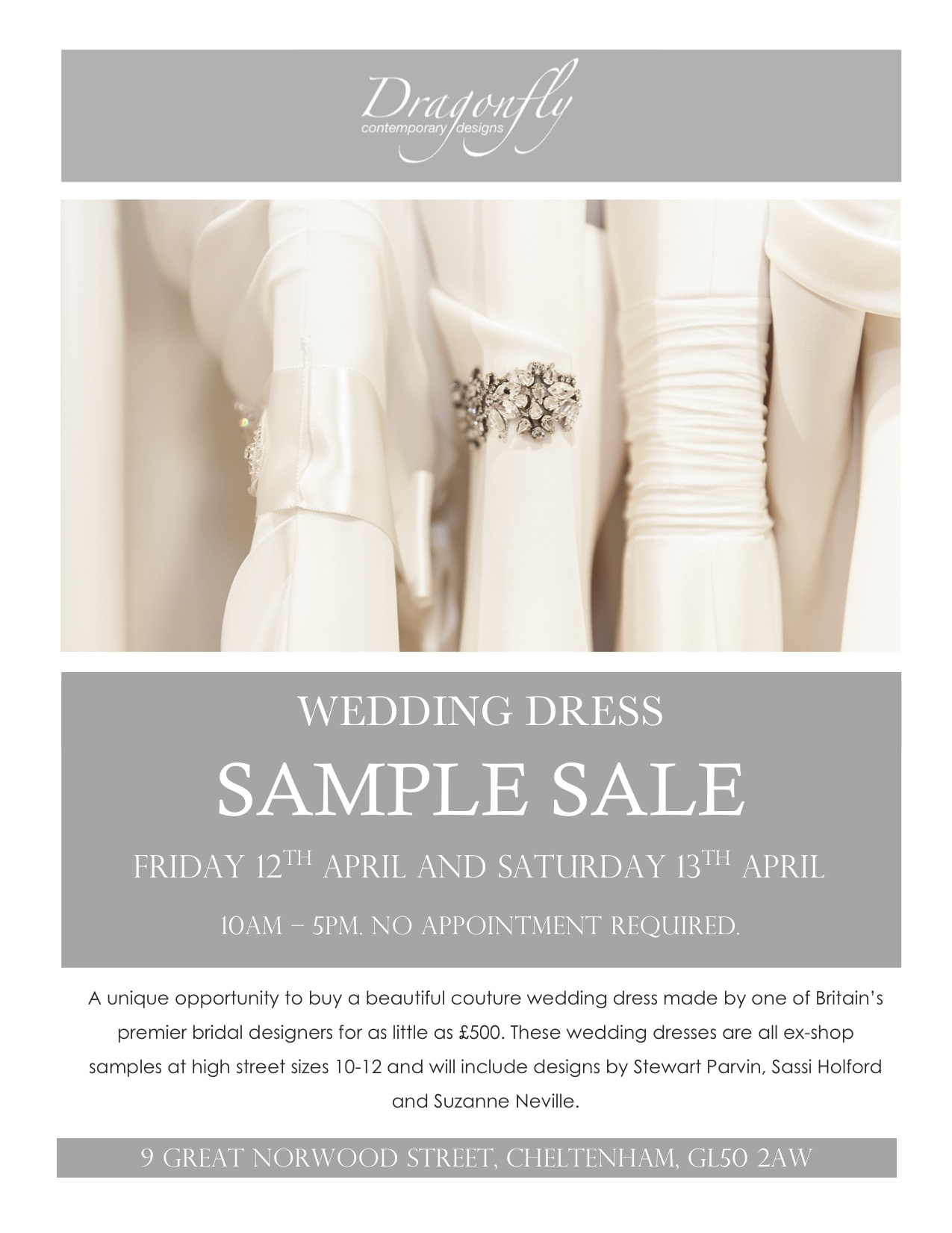 Bridal Boutique Announces Super Saving Spring Sample Sale - Jessie ...