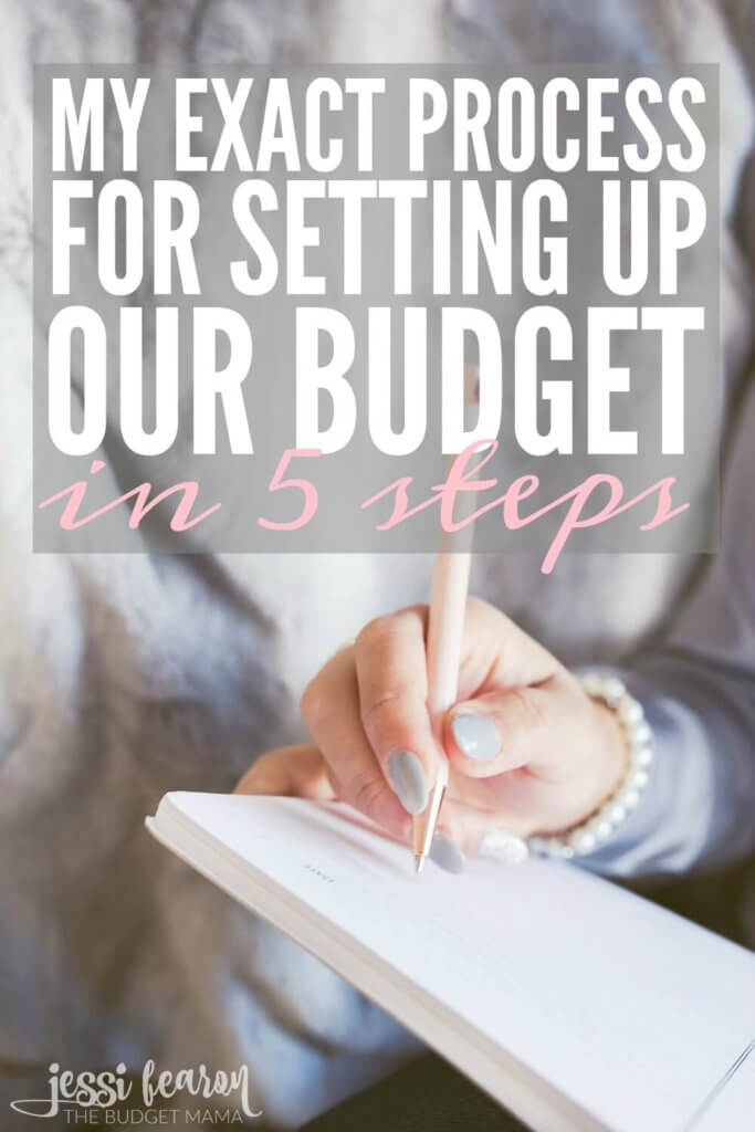 My Process for Setting Up Our Budget How to create a budget in 5 - creating a budget