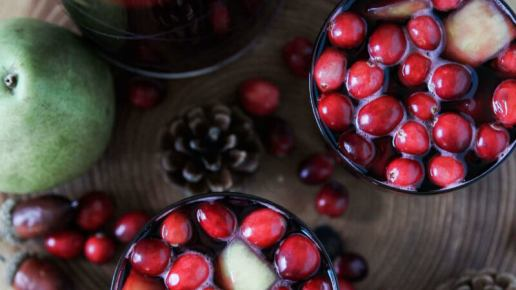 Spiced Cranberry Sangria Recipe — Dishmaps